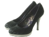 Couture Discount Satin Grau Pumps
