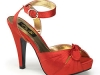 Satin Sandalette rot © Heels Perfect