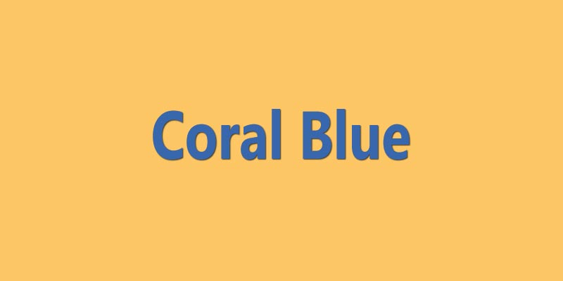 Coral Blue